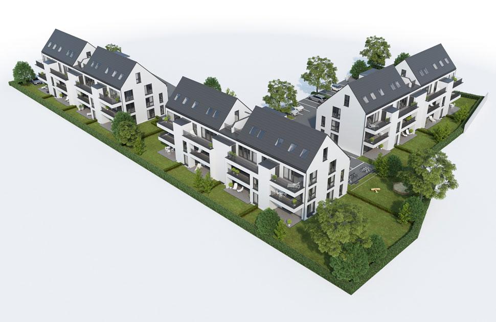 Drei 12-Familienhäuser: Frankfurter Straße 92, 63500 Seligenstadt