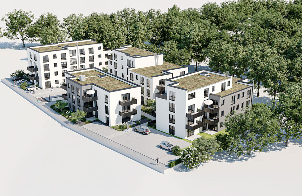 4 Mehrfamilienhäuser: Hans-Böckler-Straße 3-7, 63179 Obertshausen